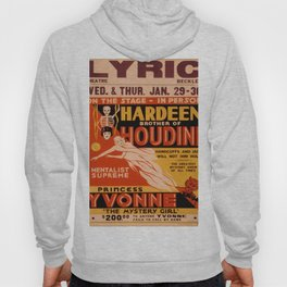 Vintage poster - Hardeenm Brother of Houdini Hoody