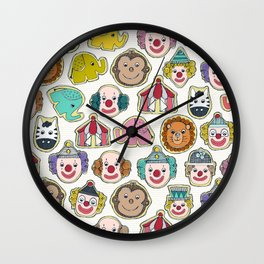 circus cookies multi Wall Clock