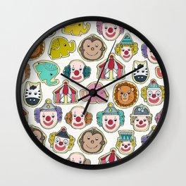 circus cookies multi Wall Clock