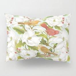 Magnolia/ Birds Pillow Sham
