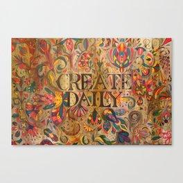 createdaily Canvas Print
