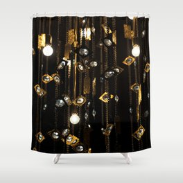Black & Gold Shower Curtain
