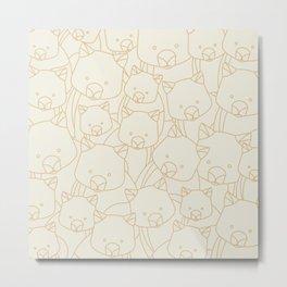 Minimalist Wombat Metal Print