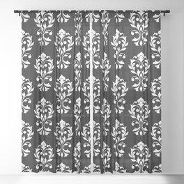 Heart Damask Pattern (B) WB Sheer Curtain