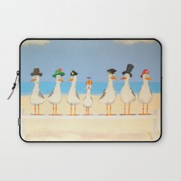 Seagulls with Hats Laptop Sleeve