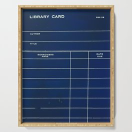 Library Card BSS 28 Negative Serving Tray