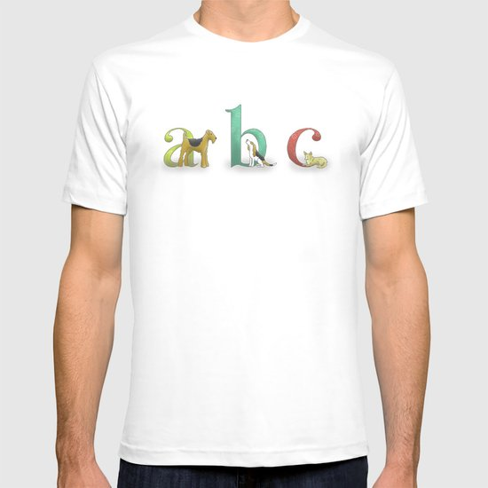 alphabet dogs T-shirt