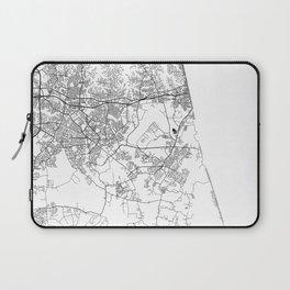 Minimal City Maps - Map Of Virginia Beach, Virginia, United States Laptop Sleeve