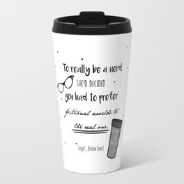 Fangirl Quote Print Travel Mug