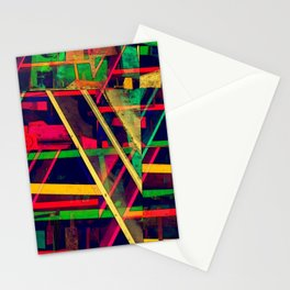 Industrial Abstract Green Stationery Cards