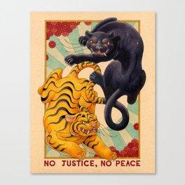 No Justice, No Peace Canvas Print