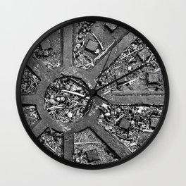 High Contrast Manhole Cover Wall Clock