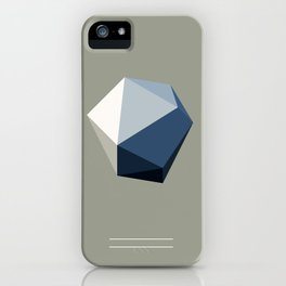Minimal Geometric Polygon Art iPhone Case