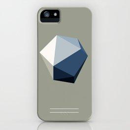 Minimal Geometric Polygon Art iPhone Case