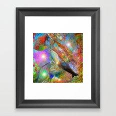 Whale in space  Framed Art Print