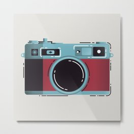 Little Yashica Camera Metal Print