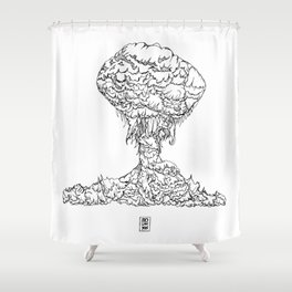 Mushroom Bloom Shower Curtain