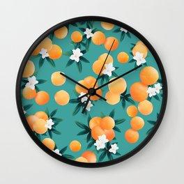 Orange Twist Flower Vibes #8 #tropical #fruit #decor #art #society6 Wall Clock