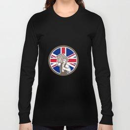 British House Removal Union Jack Flag Icon Long Sleeve T-shirt
