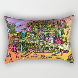 A SUNBURNED ISLAND Rectangular Pillow