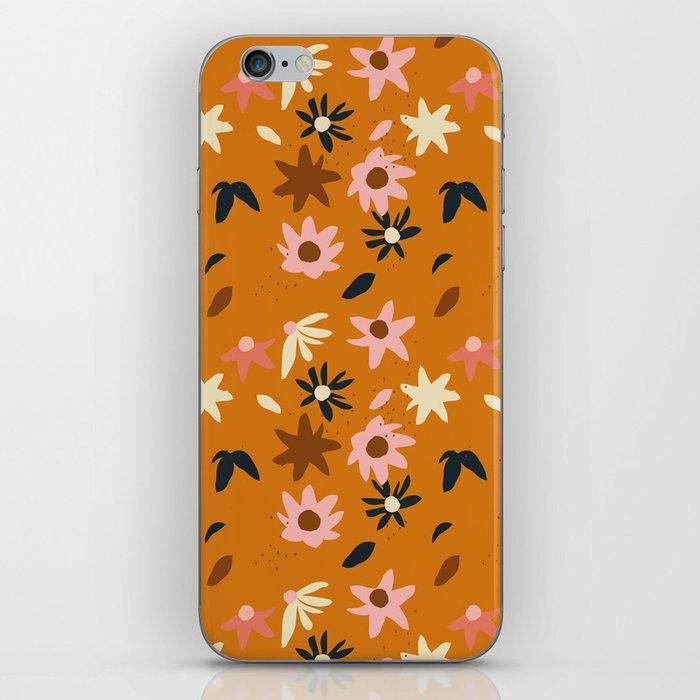Fall flowers pattern iPhone Skin