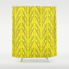 Wheat Grass Yellow Shower Curtain