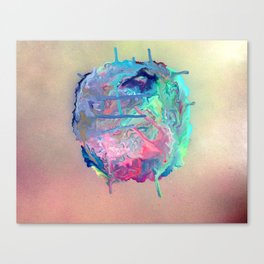 The Angry Bubble Canvas Print