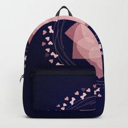 Rose Gold and Navy Mandala 33 Backpack