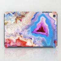 crystals iPad Cases featuring Crystals by Eileen Holland