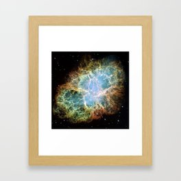 Crab Nebula Framed Art Print