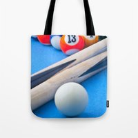 gaming Tote Bags featuring Gaming Table by Valerie Paterson