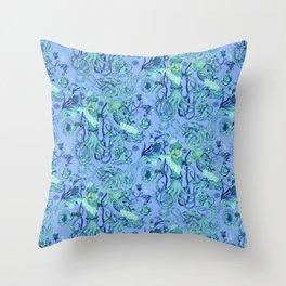Sea Squad Blue Throw Pillow