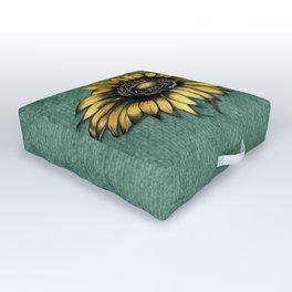Sunflower Love Outdoor Floor Cushion