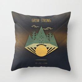 Grow Strong Throw Pillow