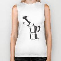 italian Biker Tanks featuring Italian coffee by LuiSegni