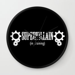 Supervillain in Training Wall Clock