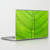 leaf Laptop & iPad Skins featuring Leaf by Patterns and Textures