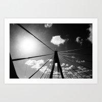 Over/Under the Bridge Art Print