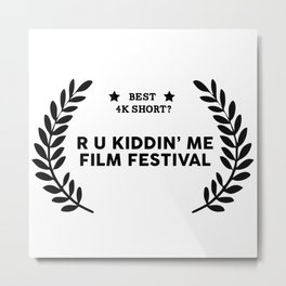 Film Festival Winner : Best 4K Short Metal Print
