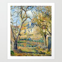 Camille Pissarro Vegetable Garden Art Print