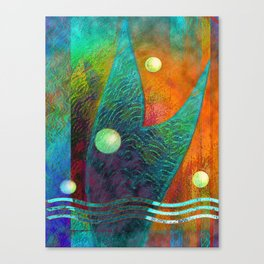 Colorful Mermaid Tail Canvas Print