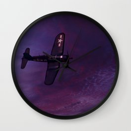 Corsair At Dawn Wall Clock