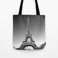 eiffel Tote Bags featuring eiffel by Michelle Loidl