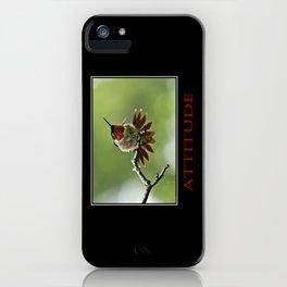 Inspirational Attitude iPhone Case