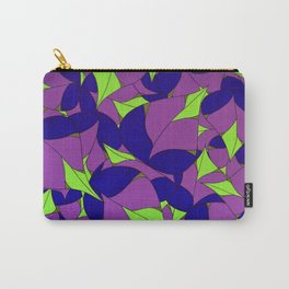 Lavender Leaves Carry-All Pouch