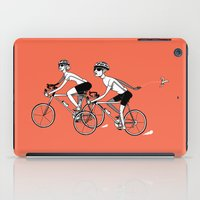 cycling iPad Cases featuring Keep Cycling by Drew Linne
