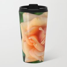 Single rose flower blooming Metal Travel Mug