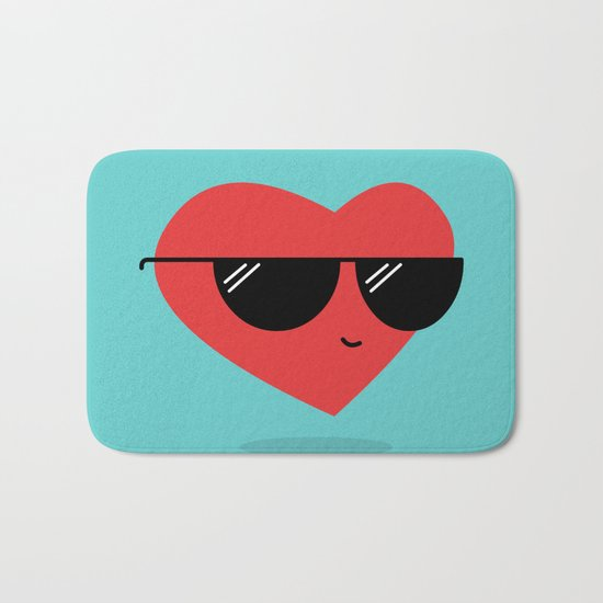Cool Heart Bath Mat