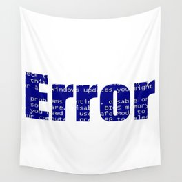 Error Blue Screen Glitch Text Wall Tapestry