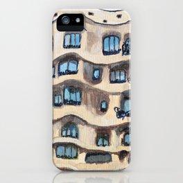 Barcelona, La Pedrera, building by Gaudi iPhone Case